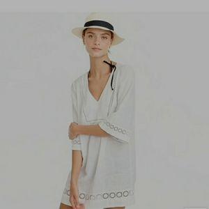 J. Crew White 100% Linen Tunic Dress